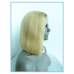 Malaysian virgin stunning ombre silk straight BOB,bangs 2015new fashions---BB001