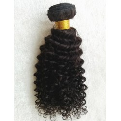 brazlian virgin curly machine weft