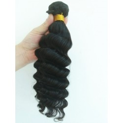 In stock brazilian virgin deep wave machine weft