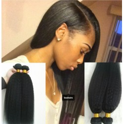 2 bundles brazilian virgin kinky straight machine wefts