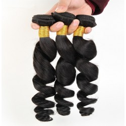 Brazilian virgin loose wave natural color weaves 3 bundles deals