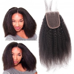 brazilian virgin kinky straight 4x4 lace closure--no silk base