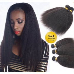3 bundles brazilian virgin kinky straight machine wefts