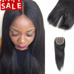 Brazilian virgin natural straight lace closure