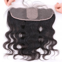 Brazilian virgin body wave lace frontal with 4*4 silk base