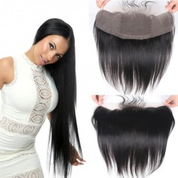 In stock-Brazilian virgin silk straight lace frontal ,best for black