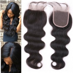 On sale--Brazilian virgin body wave lace closure