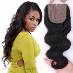 On sale---Indian remy body wave silk base top closure
