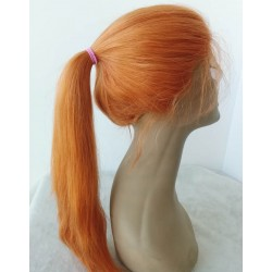 Summer Ready--Brazilian virgin orange color silk straight lace front wig