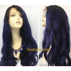 Brazilian virgin LOOSE BODY WAVE full lace bleached knots wig-[WWW006]