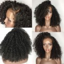 Brazilian virgin Deep Curly full lace bleached knots wig-[WWW222]