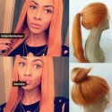 Brazilian virgin orange straight lace front wig--[bambii001]