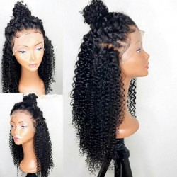 Malaysian virgin kinky curl full lace silk top wig--[HW999]