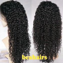 Brazilian virgin Water Wave 360 frontal lace wig-[HT666]