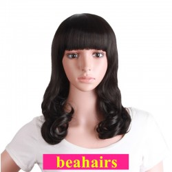 Brazilian virgin loose body wave 360 frontal wig with weaves sewn in-[HT229]