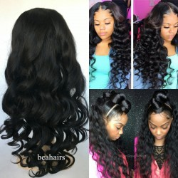 Brazilian virgin Loose Wave 360 frontal lace wig-[HY999]