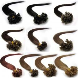 Brazilian Human Fusion Keratin Hair Nail U Tips Extensions--[UT001]