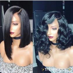 In stock-Brazilian virgin bob 360 frontal lace wig-[HT698]