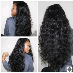 Pre-plucked Brazilian virgin loose body wave 360 frontal lace full wig---[BEA002]