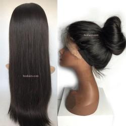 Grace-brazilian virgin silk straight full lace silk top wig