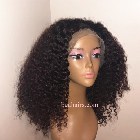 Pre-plucked Brazilian virgin Jerry Curl 360 frontal lace full wig---[JC888]
