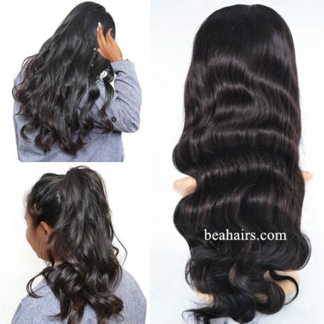 Brazilian virgin body wave glueless lace front wig---[LA005]