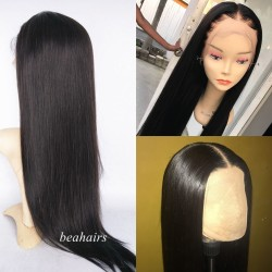 Pre-plucked Brazilian virgin silky straight 360 frontal lace full wig---[HT888]