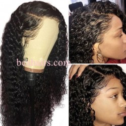 Water Wave 370 Lace Wig Real Hair Wigs Deep Part Lace Frontal Wig--HT375