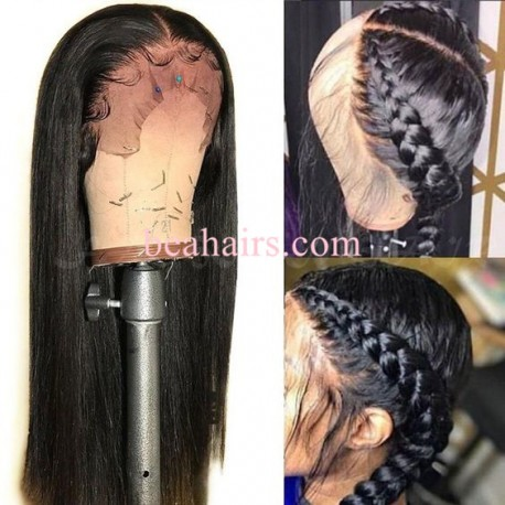 Silk straight 370 Lace Wig Real Hair Wigs Deep Part Lace Frontal Wig--HT376