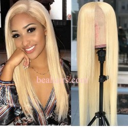 Blonde 613 Lace Front Wig 13x6 brazilian Virgin 180% density Lace Front Wig--CW347
