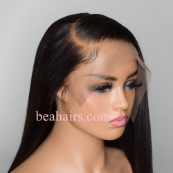 Stock Pre-plucked Brazilian Virgin 180% density 13*6 lace front silk top wig--NLW686