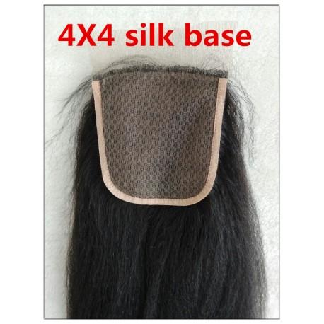 Indian remy italian yaki silk base closure