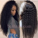 Pre-plucked Brazilian virgin Deep Curly 360 frontal lace wig-[DC555]