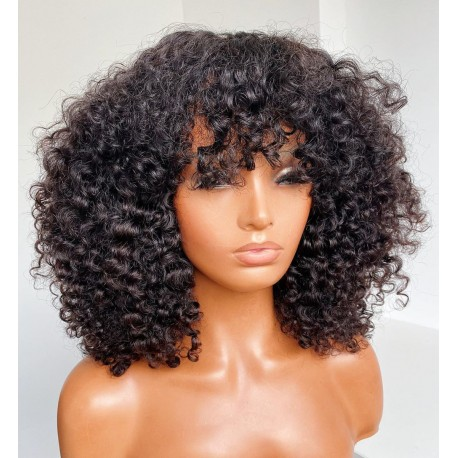 Ready to wear Bang curly 360 frontal wig - BC253