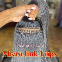10A grade virgin human hair wholesale microlink I tips hair extensions