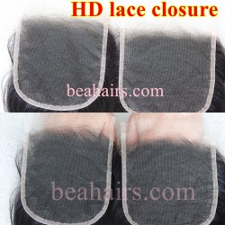 Wholesale HD Lace closure Undetectable Knots invisible