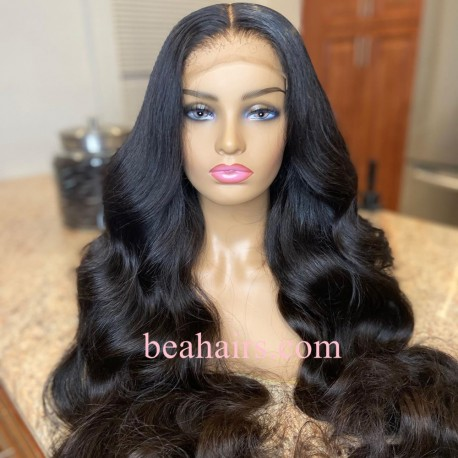 Stock body wave 5*5 HD skin melt lace closure wig--HD002