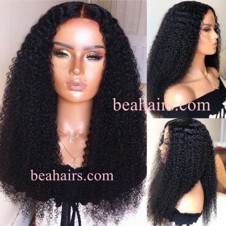 Stock water wave 5*5 HD skin melt lace closure wig--HD006