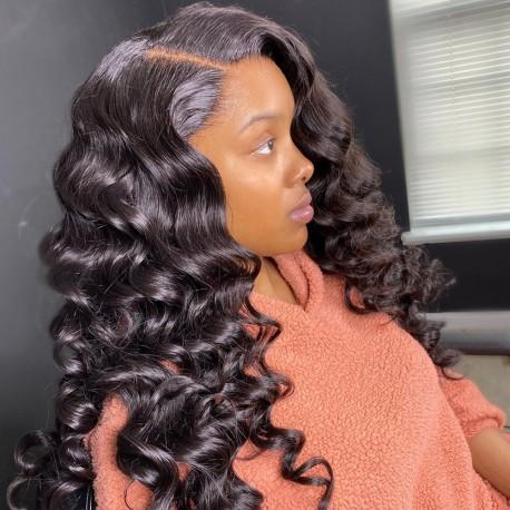 Brazilian virgin Loose Wave 360 frontal lace wig-[HY999]