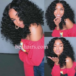 Stock beach wave 5*5 HD skin melt lace closure wig--HD009