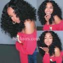 Stock beach wave 5*5 HD skin melt lace closure wig--HD009