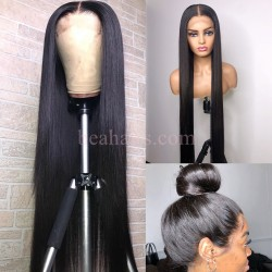 Stock silk straight 5*5 HD skin melt lace closure wig--HD004