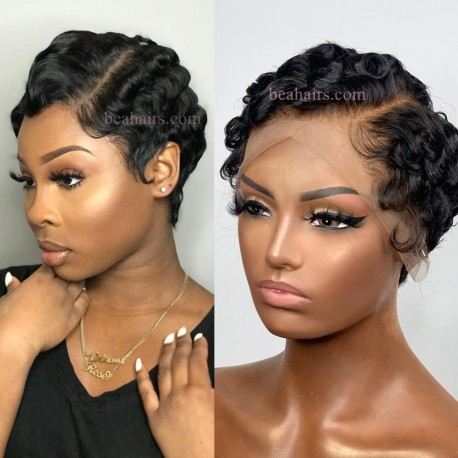 6 inch lace parting short pixie cut lace front wig --NLW462