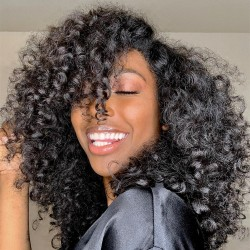 Brazilian virgin spanish curl full lace bleached knots wig-[WWW006]