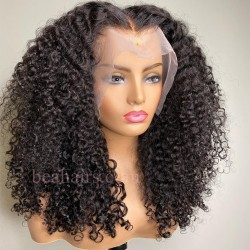 Pre plucked Brazilian virgin Romance Curly 360 frontal lace full wig-[HY363]