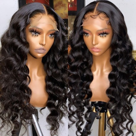 Stock loose wave 5*5 HD skin melt lace closure wig--HD105