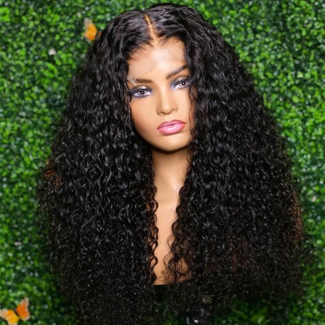 Stock water wave 5*5 HD skin melt lace closure wig--HD006