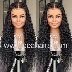 Stock wet wave 5*5 HD skin melt lace closure wig--HD109