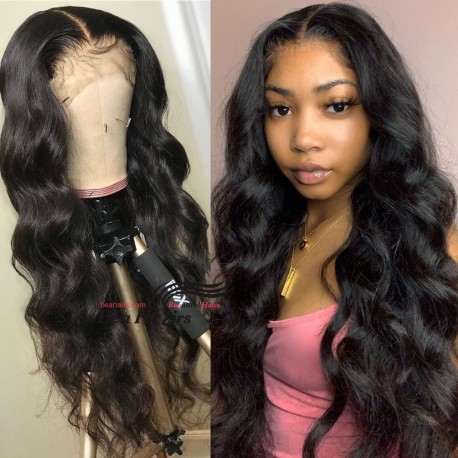Stock loose body wave 5*5 HD skin melt lace closure wig--HD003