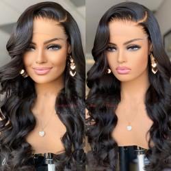 Stock Ocean wave 5*5 HD skin melt lace closure wig--HD234